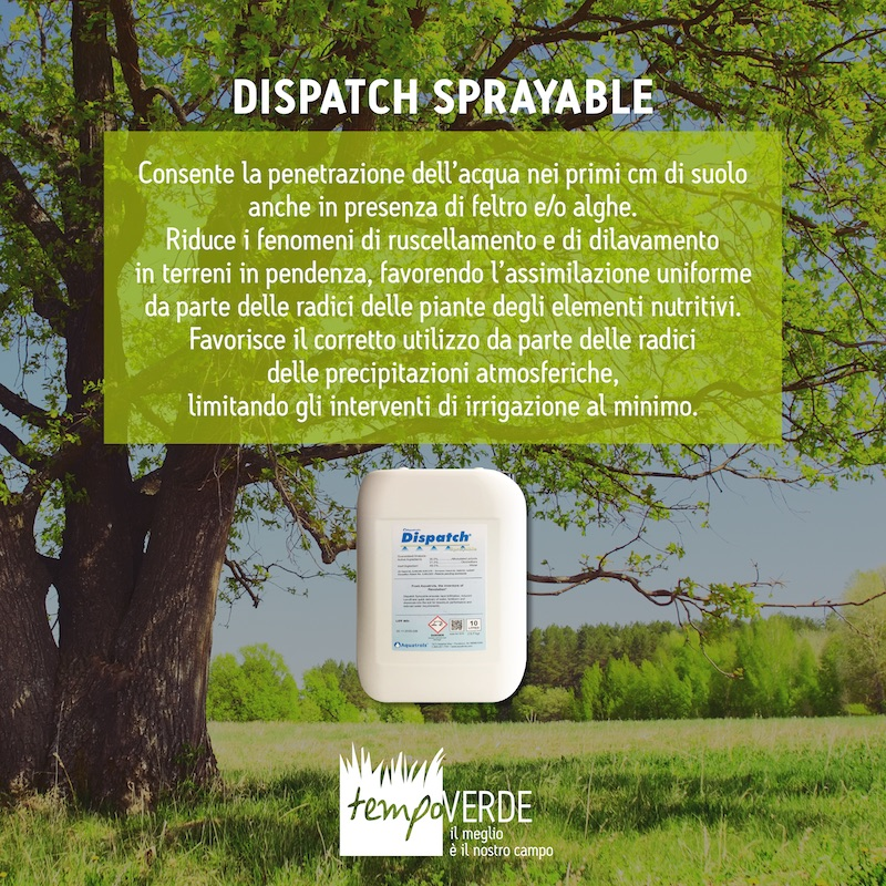 Dispatch sprayable